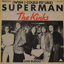 "THE KINKS - WISH I COULD FLY LIKE SUPERMAN - LOW BUDGET  7""SINGLE (G407)"