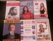 6 conservative books: Goldberg, Nugent,  Palin, Coulter, Beck, Brock. Excellent