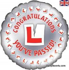 "18"" FOIL BALLOON ""CONGRATULATIONS YOU'VE PASSED!""  DRIVING TEST"
