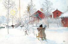Carl Larsson Gården och Brygghuset Giclee Canvas Print