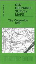 OLD ORDNANCE SURVEY MAP THE COTSWOLDS 1893