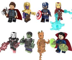 Marvel Avengers Endgame Thanos Nebula Captain America Thor Building Blocks Toys