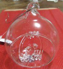Décoration de sapin verre boule et crèche (NO34)