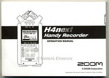 H4n H4next Instruction Book, Zoom Handy Digtal Sound Recorder User Manual, NEW