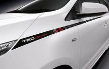 TOYOTA YARIS 2014 PAIR GENUINE TRD SPORTIVO BLACK STICKER FROM LH + RH