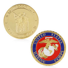 Marine Corps Washington D.C. Vietnam Memorial Gold Plated Commemorative Coin New
