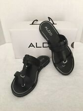 NIB Aldo Womens Yodda Black Flip-Flop Thong Sandals 6.5 Medium (B,M) MSRP $45.00