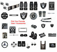 New NFL Oakland Raiders Pick Your Gear / Car Truck Accessories Official Licensed