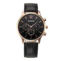Naviforce Fashion Mens Luxury Leather Strap Army Date Analog Quartz Wrist Watch