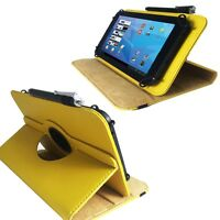 Tablet Tasche für ODYS Space 10 Pro Hülle Etui Gelb 10.1 Zoll 360