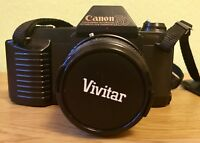 CANON T50 Camera With Dietz MC Auto 1:2.8 F=28mm. Vivitar Skylight Filter