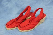 Castamer Red Wedge Heel Platform Shoe Red Sandal size 39 US 8 8.5