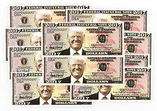 Inaugural President Donald Trump USA 10 fantasy paper money notes 2017