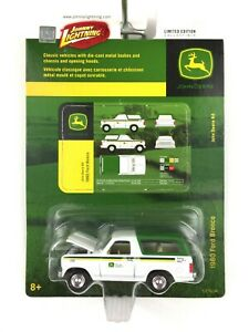 Johnny Lightning John Deere 1980 80 Ford Bronco White & Green Die Cast 1/64 Ltd