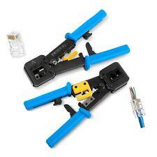 Rj45 Crimp Tool for Pass Through Connector End | Ez Cut, Strip, Crimp Electri.