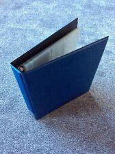 TRADE CARD ALBUM / BINDER A4 SIZE BLUE LONDON CIGARETTE CARD Co PLUS 25 SLEEVES