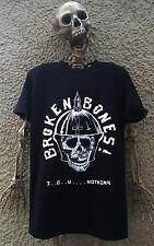 Roto Huesos Camiseta Discharge Disclose Exploited Gbh Calle Punk Patín Calavera