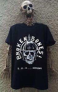 BROKEN BONES T-SHIRT discharge disclose exploited gbh street punk skate skull