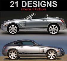 Chrysler Crossfire Seitenstreifen Aufkleber Sticker Grafiken TRD 2 stk.