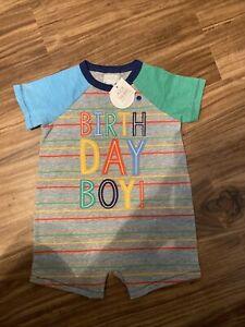 Mud Pie Birthday Boy Romper