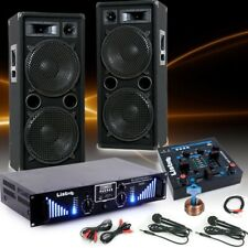 3000W PA Karaoke Party Musik Anlage Boxen Bluetooth Endstufe USB MP3 Mischpult