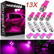 13X Pink LED Lights Interior Package Kit Dome Map License Plate Bulb T10 31MM