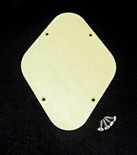 PIASTRA Posteriore Controllo cavità Coprire Crema resistente in plastica ABS per Chitarra Elettrica Regno Unito