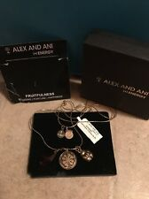 RARE Alex and Ani Necklace Expandable 3 Charms FRUITFULNESS Bloomingdales NEW