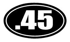 .45 Vinyl Decal Sticker Car Window Wall Bumper Hand Gun Ammo M1911 ACP Pistol