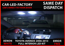 TOYOTA AVENSIS 2005-13 INTERIOR LED UPGRADE LIGHTING LED REPLACEMENT BULBS