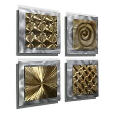 Metal Wall Art Silver Gold Modern Wall Sculpture Signed Original Jon Allen
