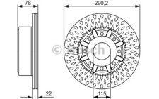 2x BOSCH Disque de frein 290mm Ventilé pour RENAULT TRUCKS MASCOTT 0 986 479 610