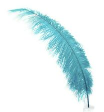 "3 AQUA BLUE Ostrich SPADS 20-30"" Full Wing Feather PLUMES; Wedding/Centerpiece"
