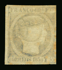 Spanish PHILIPPINES 1854  Queen Isabella II  1r slate blue  Sc# 4a  mint MH VF