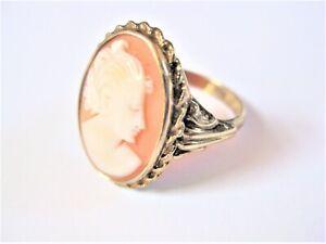 Antiker Ring Gold 333 mit Gemme, 3,4 g
