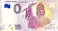 BILLET 0  EURO JEANNE D'ARC ST PIERRE LE MOUTIER FRANCE  2018  NUMERO 100