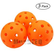 3PCS 75mm Pickleball Bouncy Durable Ball for Outdoor & Indoor Exercise Activity
