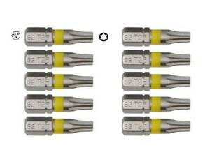 10 TORX Bits TX  aus S2 Stahl T10 T15 T20 T25 T27 T30 Schraubendreher  Bit-Satz
