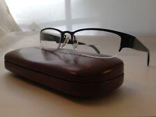 Authentic TOMMY HILFIGER Black Semi-rimless EYEGLASSES FRAMES 51-15-135 & Case