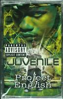 """JUVENILE """"PROJECT ENGLISH"""" 2001 CASSETTE TAPE *SEALED* ~RARE~ HTF *CLASSIC RAP*"""