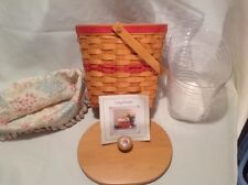 Longaberger 2001 Mothers Day Vintage Blossoms Basket Combo, with Lid