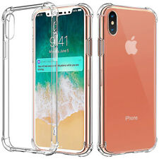 Shockproof Flip Ultra Thin PC Bumper Clear Gel Case Cover for Apple iPhone x