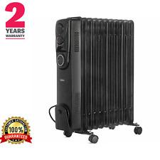 Heater Oil Filled Radiator 11 Fin 2500W Portable Electric Heater+ Timer 2Y warra
