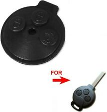 Mercedes Smart Car Forfour Fortwo City Rubber Key Pad 3 Button Remote Fob Insert