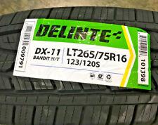 4 New LT 265 75 16 LRE 10 Ply Delinte DX-11 Bandit H/T Tires