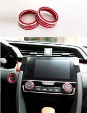 For 2017 Honda Civic 10th Air Conditioner Switch Decor Ring Cover Trim 2 PCS/set
