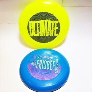 1980s Vintage World Class All-Sport Mattel & Discraft Ultra Star Disc Frisbees