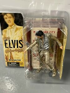 2005 McFarlane Elvis Presley 1956 The Year In Gold Factory Sealed Action Figure