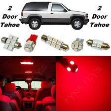 16x Red LED lights interior package kit for 1992-1999 2 door Tahoe/Yukon CT4R
