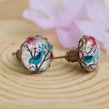 1 Pair Women Earrings Flower Bird Blue Lemon Tree Earrings Jewelry Hot Sale Gift